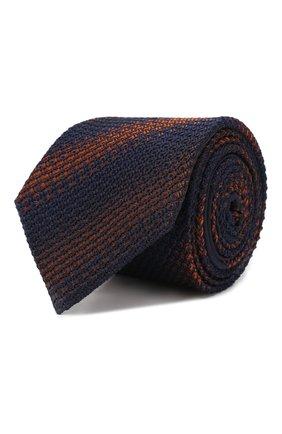 Мужской шелковый галстук ZEGNA COUTURE темно-синего цвета, арт. Z6B03/15C | Фото 1