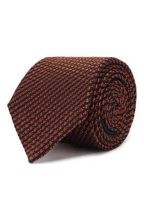 Мужской шелковый галстук ZEGNA COUTURE оранжевого цвета, арт. Z6B03/15C | Фото 1