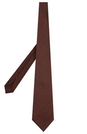 Мужской шелковый галстук ZEGNA COUTURE оранжевого цвета, арт. Z6B03/15C | Фото 2