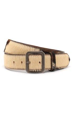 Мужской кожаный ремень RRL коричневого цвета, арт. 417754681 | Фото 1