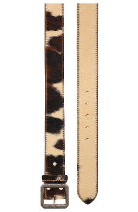 Мужской кожаный ремень RRL коричневого цвета, арт. 417754681 | Фото 2