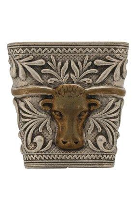Мужская кольцо для платка RRL серебряного цвета, арт. 417754808001 | Фото 1