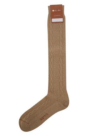 Мужские кашемировые носки LORO PIANA бежевого цвета, арт. FAI8976 | Фото 1