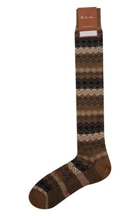 Мужские кашемировые носки LORO PIANA бежевого цвета, арт. FAI8977 | Фото 1