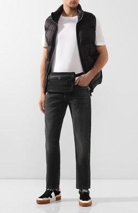 Мужская поясная сумка DOLCE & GABBANA черного цвета, арт. BM1702/AZ675 | Фото 2