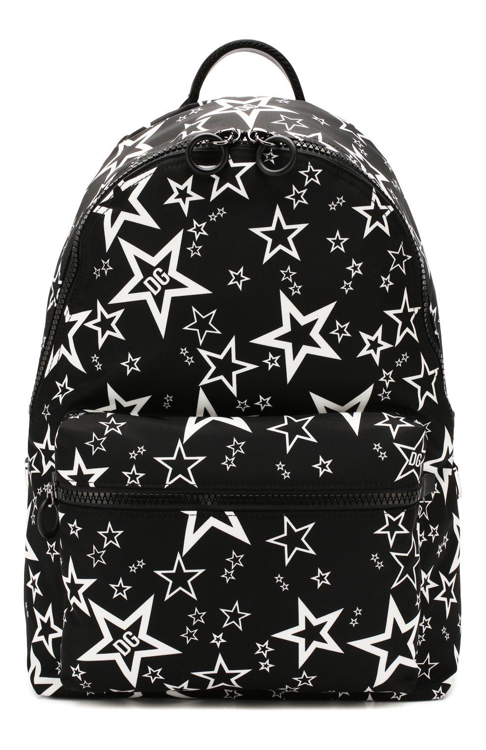 Мужской текстильный рюкзак vulcano DOLCE & GABBANA черного цвета, арт. BM1607/AJ610   Фото 1