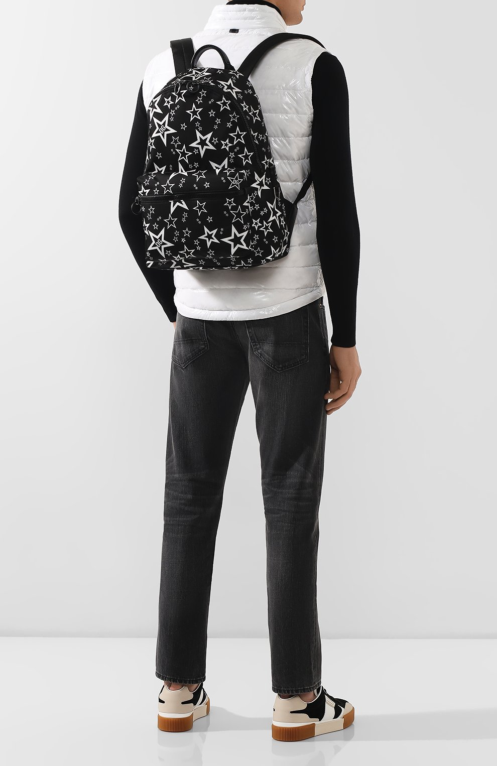 Мужской текстильный рюкзак vulcano DOLCE & GABBANA черного цвета, арт. BM1607/AJ610   Фото 2