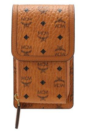 Мужского футляр для iphone MCM коричневого цвета, арт. MXE ASVI03 | Фото 1
