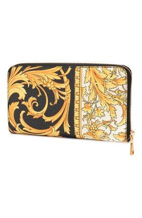 Мужской кожаное портмоне VERSACE золотого цвета, арт. DP33597/DVTG8 | Фото 2