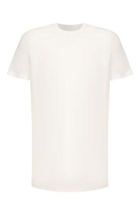 Мужская хлопковая футболка RICK OWENS белого цвета, арт. RU20S7264/JA | Фото 1