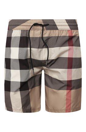 Детского плавки-шорты BURBERRY бежевого цвета, арт. 8017294 | Фото 1