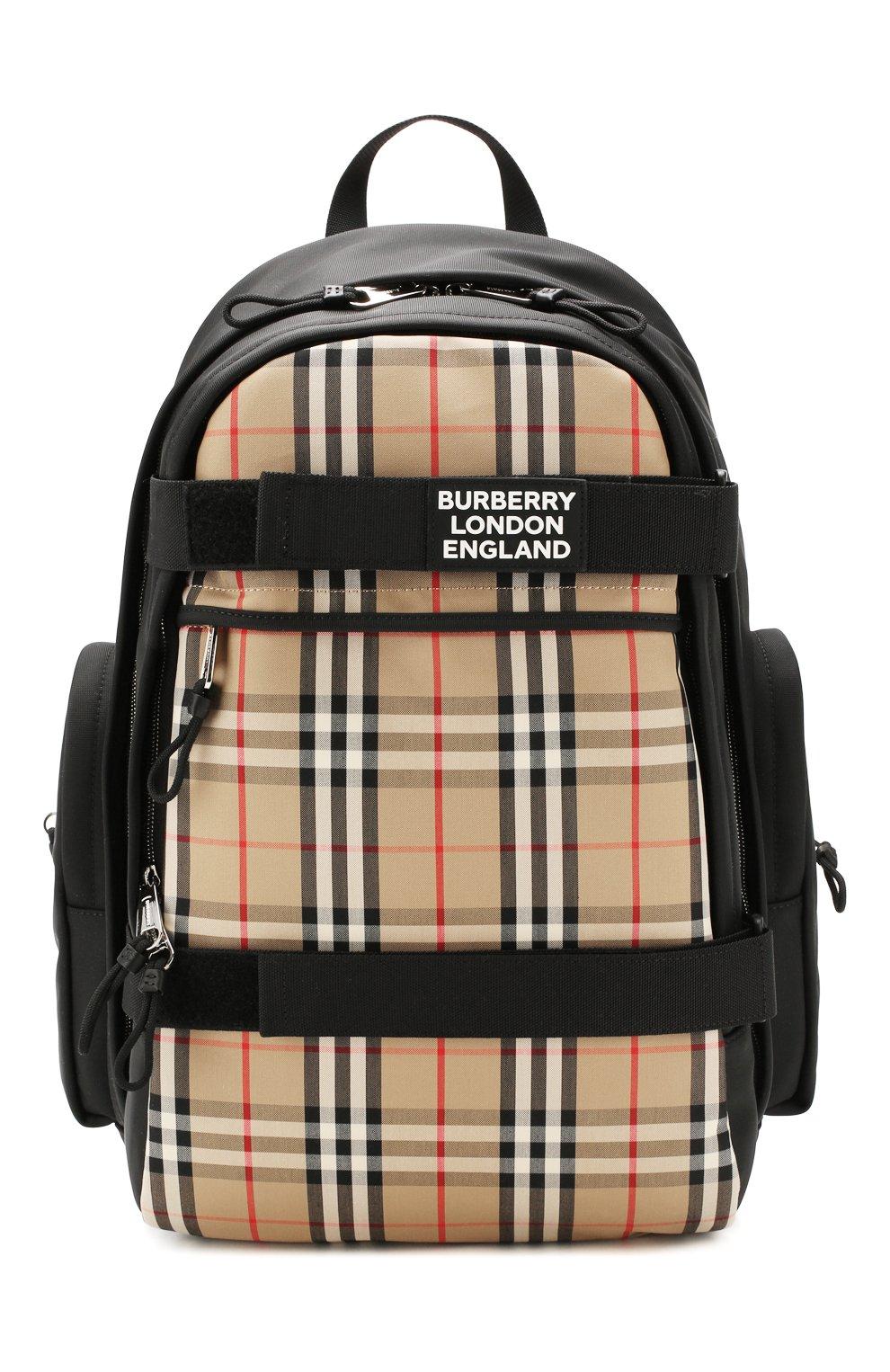 Мужской рюкзак BURBERRY бежевого цвета, арт. 8023640 | Фото 1