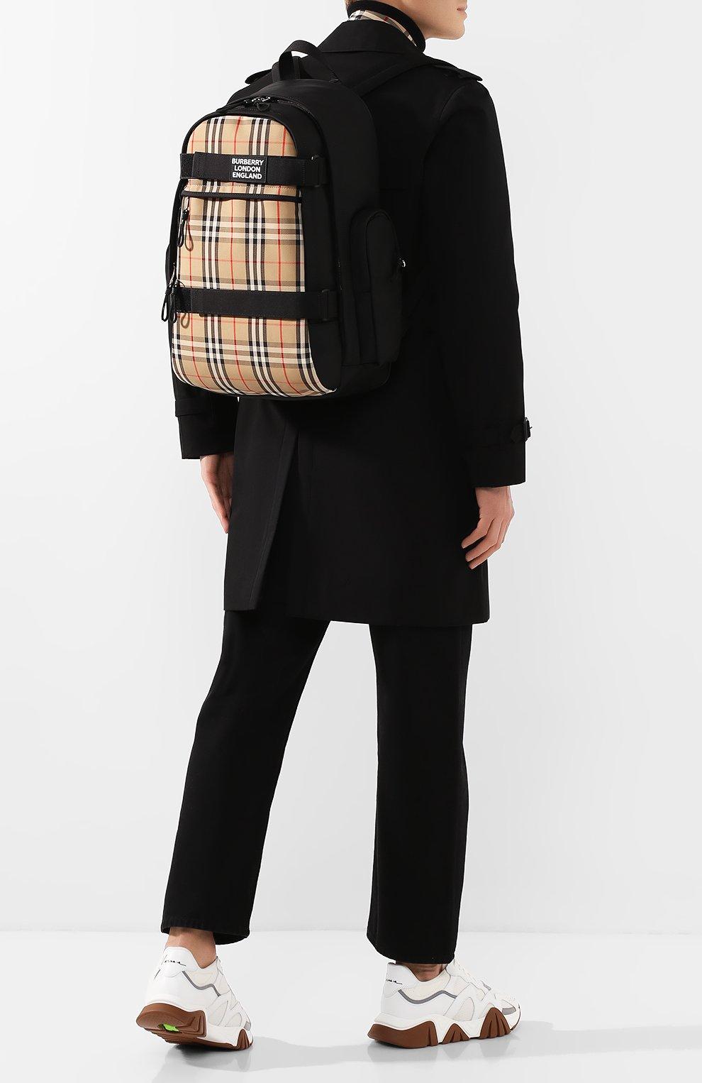 Мужской рюкзак BURBERRY бежевого цвета, арт. 8023640 | Фото 2