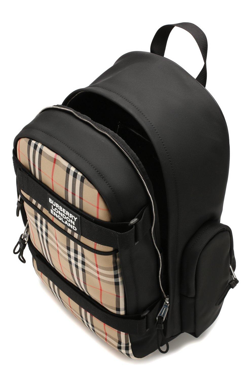 Мужской рюкзак BURBERRY бежевого цвета, арт. 8023640 | Фото 4