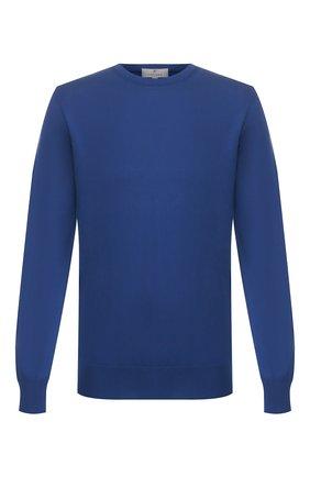 Мужской хлопковый джемпер CANALI темно-синего цвета, арт. C0012/MK00145 | Фото 1