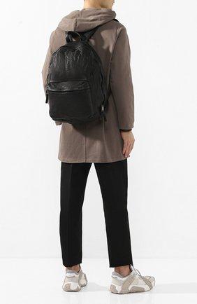 Мужской кожаный рюкзак GIORGIO BRATO черного цвета, арт. BS20S2401V | Фото 2