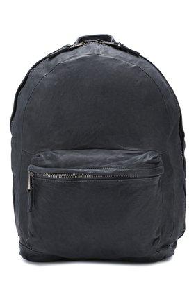 Мужской кожаный рюкзак GIORGIO BRATO темно-серого цвета, арт. BS20S2401V | Фото 1