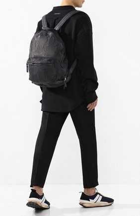 Мужской кожаный рюкзак GIORGIO BRATO темно-серого цвета, арт. BS20S2401V | Фото 2