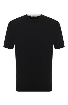 Мужской хлопковый джемпер FIORONI черного цвета, арт. MK20260A2 | Фото 1