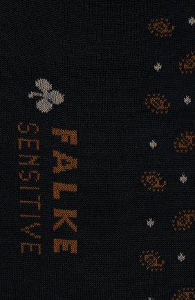 Мужские хлопковые носки sensitive jabot FALKE темно-синего цвета, арт. 13344 | Фото 2