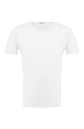 Мужская льняная футболка GRAN SASSO белого цвета, арт. 60135/96801 | Фото 1