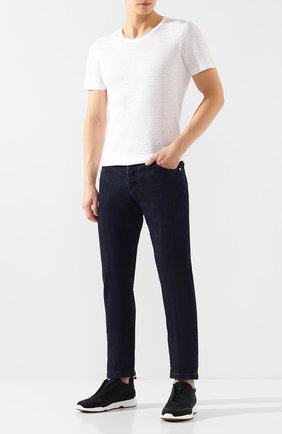 Мужская льняная футболка GRAN SASSO белого цвета, арт. 60135/96801 | Фото 2