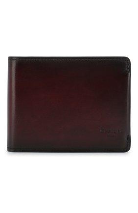 Мужской кожаное портмоне BERLUTI бордового цвета, арт. N176396 | Фото 1