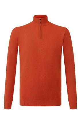 Мужской кашемировый джемпер LORO PIANA оранжевого цвета, арт. FAI0190 | Фото 1