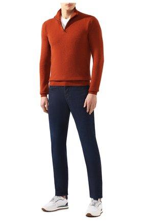 Мужской кашемировый джемпер LORO PIANA оранжевого цвета, арт. FAI0190 | Фото 2