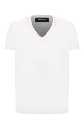 Мужская хлопковая футболка DSQUARED2 белого цвета, арт. S71GD0874/S22844   Фото 1