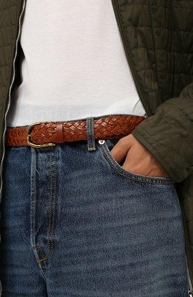 Мужской кожаный ремень BRUNELLO CUCINELLI коричневого цвета, арт. MAUFC347 | Фото 2