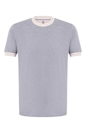 Мужская хлопковая футболка BRUNELLO CUCINELLI серого цвета, арт. M0T611620 | Фото 1