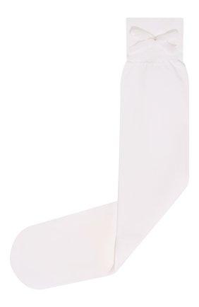 Детские гольфы бантики YULA белого цвета, арт. YU-25   Фото 1 (Материал: Текстиль, Синтетический материал; Статус проверки: Проверена категория)