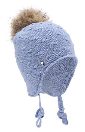 Детского шапка-ушанка bergamo CANOE голубого цвета, арт. 5914044.52 | Фото 1