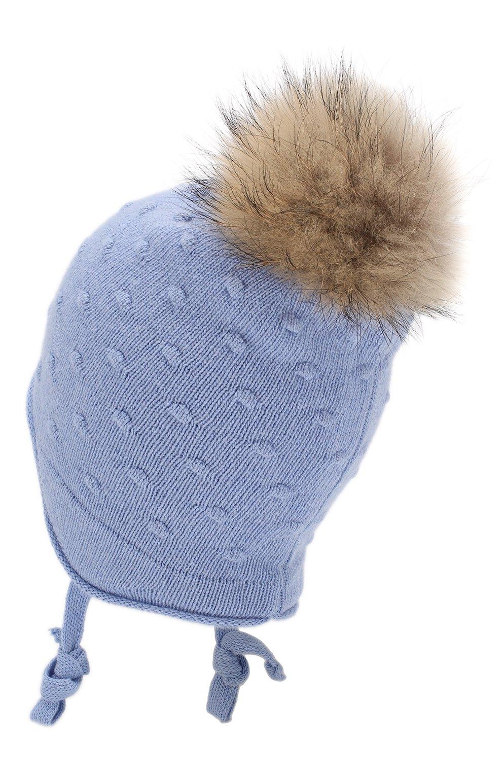 Детского шапка-ушанка bergamo CANOE голубого цвета, арт. 5914044.52 | Фото 2