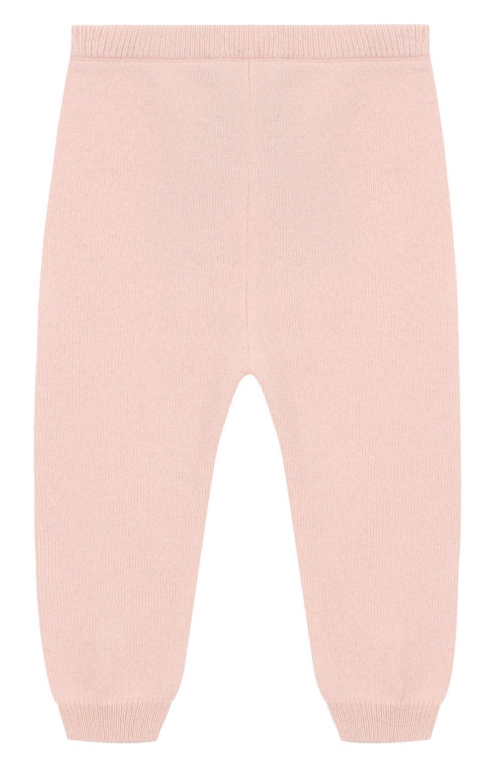 Детские кашемировые джоггеры OSCAR ET VALENTINE розового цвета, арт. LEG01S | Фото 2