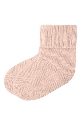 Детские кашемировые носки OSCAR ET VALENTINE розового цвета, арт. CH02 | Фото 1