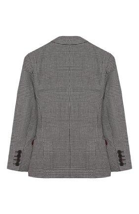 Детский шерстяной пиджак BRUNELLO CUCINELLI серого цвета, арт. BN4647BTDB | Фото 2