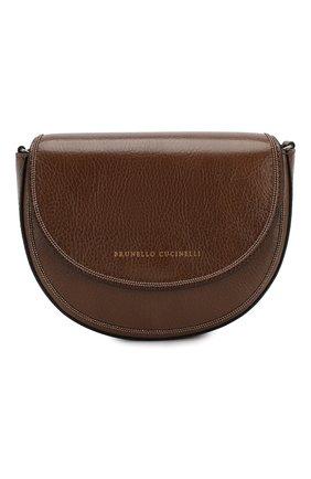 Детская кожаная сумка BRUNELLO CUCINELLI коричневого цвета, арт. BBSCD2020 | Фото 1