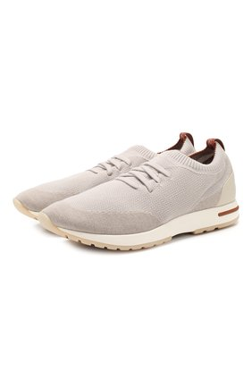 Мужские текстильные кроссовки 360 lp walk LORO PIANA бежевого цвета, арт. FAI1540 | Фото 1