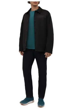 Мужские текстильные кроссовки 360 lp walk LORO PIANA бирюзового цвета, арт. FAI1540 | Фото 2