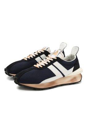 Мужские кроссовки LANVIN темно-синего цвета, арт. FM-SKBRUN-DRAG-P20 | Фото 1