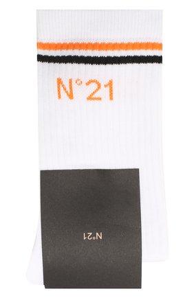 Детские хлопковые носки NO. 21 белого цвета, арт. N214A4/N0027/N21Z4U | Фото 1