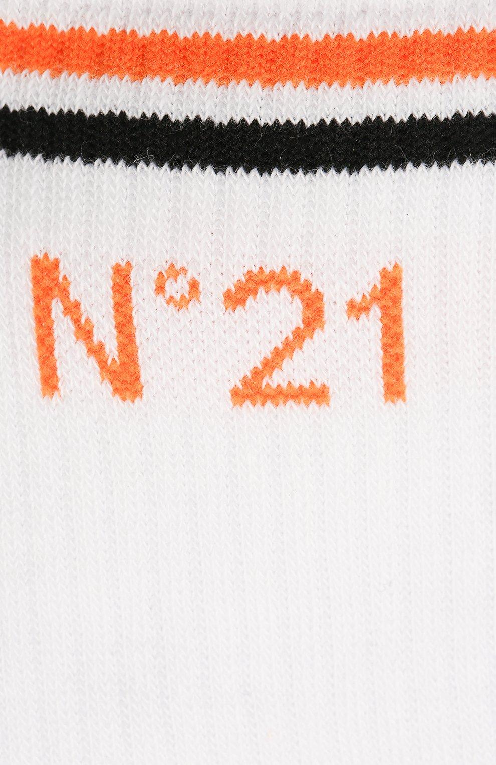 Детские хлопковые носки N21 белого цвета, арт. N214A4/N0027/N21Z4U   Фото 2 (Материал: Текстиль, Хлопок)