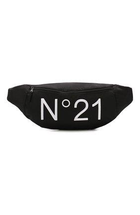 Детская поясная сумка NO. 21 черного цвета, арт. N214A9/N0076/N21W2U | Фото 1