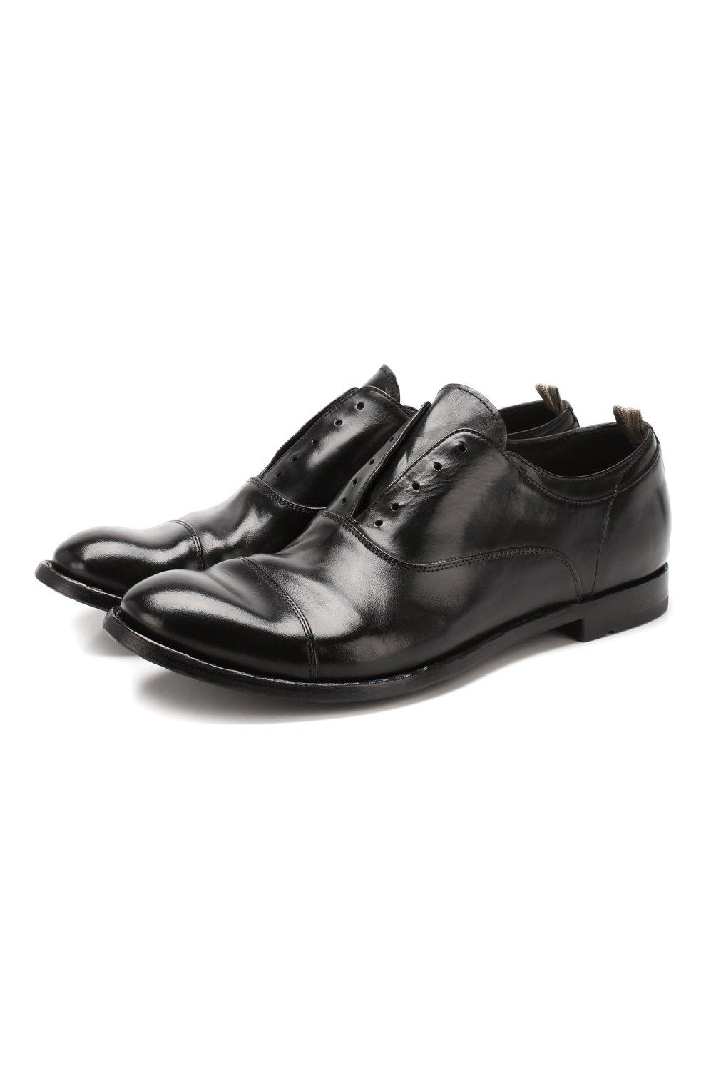 Мужские кожаные оксфорды OFFICINE CREATIVE черного цвета, арт. ANAT0MIA/08/AER0 CANY0N   Фото 1 (Материал внутренний: Натуральная кожа; Стили: Классический; Статус проверки: Проверена категория)