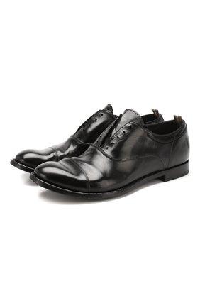 Мужские кожаные оксфорды OFFICINE CREATIVE черного цвета, арт. ANAT0MIA/08/AER0 CANY0N | Фото 1
