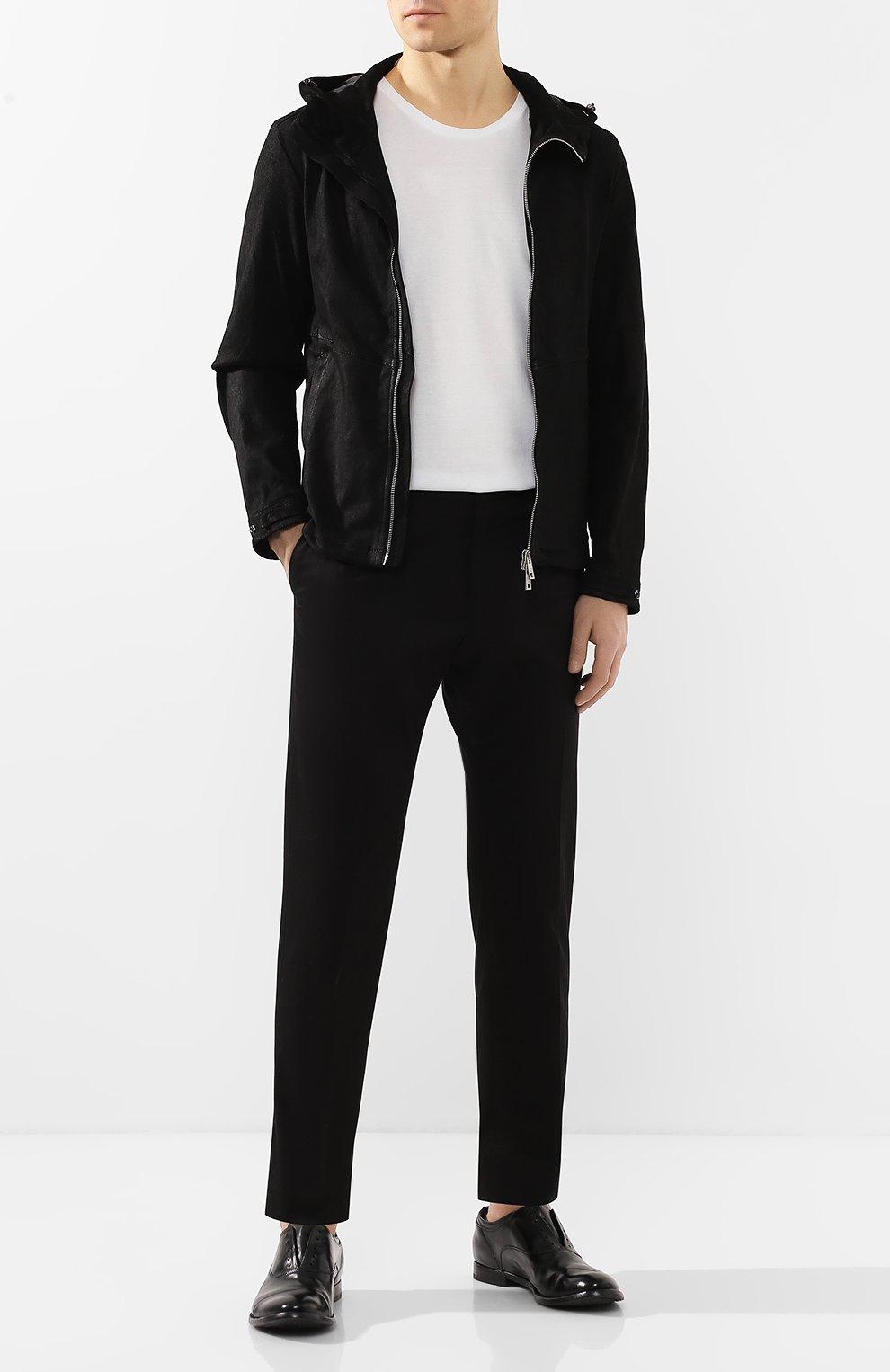 Мужские кожаные оксфорды OFFICINE CREATIVE черного цвета, арт. ANAT0MIA/08/AER0 CANY0N   Фото 2 (Материал внутренний: Натуральная кожа; Стили: Классический; Статус проверки: Проверена категория)