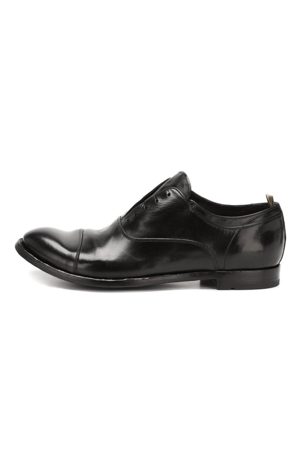 Мужские кожаные оксфорды OFFICINE CREATIVE черного цвета, арт. ANAT0MIA/08/AER0 CANY0N   Фото 3 (Материал внутренний: Натуральная кожа; Стили: Классический; Статус проверки: Проверена категория)