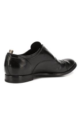 Мужские кожаные оксфорды OFFICINE CREATIVE черного цвета, арт. ANAT0MIA/08/AER0 CANY0N   Фото 4 (Материал внутренний: Натуральная кожа; Стили: Классический; Статус проверки: Проверена категория)